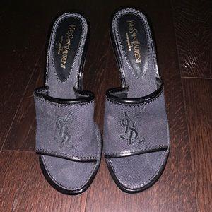 YSL slip on heels used